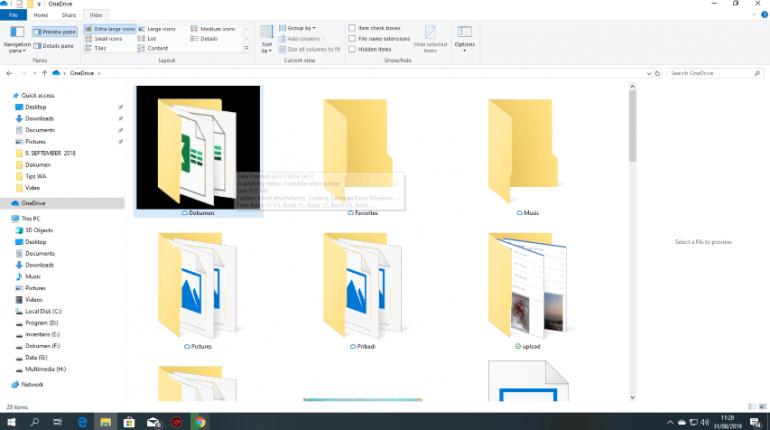 Menghilanglan background hitam di Folder